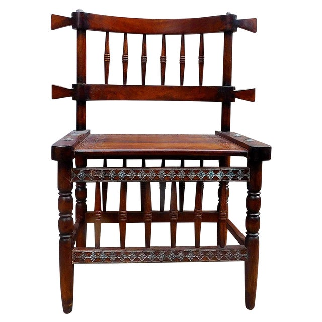 African Chieftan Inspired Chair - Image 1 of 5