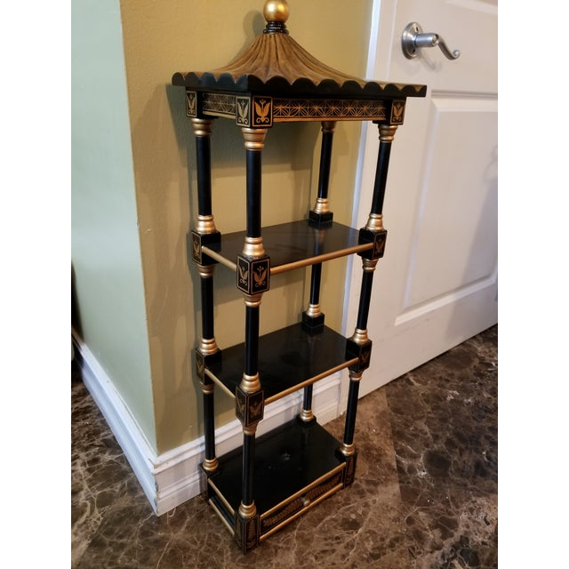 Beautiful wall or floor accent, has brackets for wall mount and steady footing for petite etagere or side table. Great,...