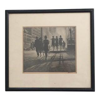 """Shadow Dance"" Martin Lewis Print"