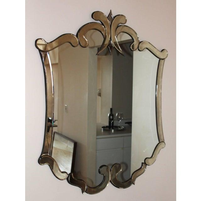 Stunning, 1940s Venetian style large mirror.