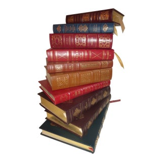 Leather Bound Easton Press Books - Set of 10 For Sale