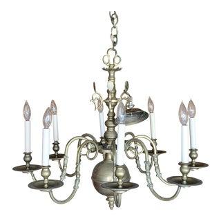 Hollywood Regency Chapman Brass 8 Light Chandelier For Sale