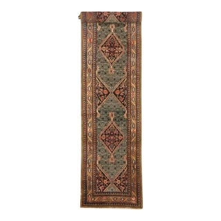 Camel Hair Antique Persian Malayer Carpet Runner with Modern Style, 19 Ft Long Runner For Sale