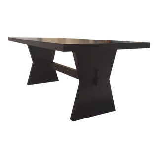 Storehouse Transitional Black Wood Dining Table