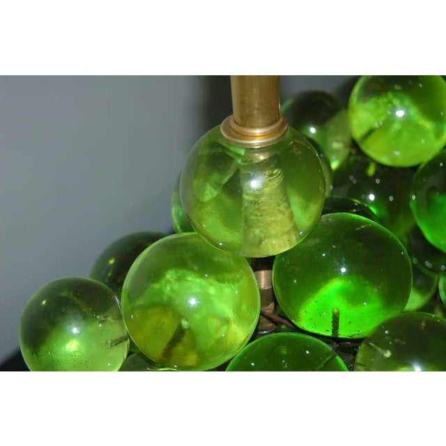 Gold Vintage Bubble Table Lamps Pantani Green For Sale - Image 8 of 10