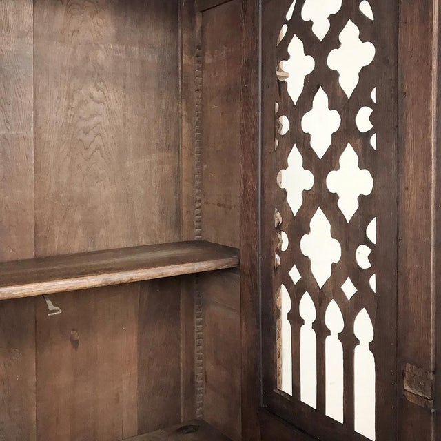 Mid 19th Century 19th Century French Gothic Bookcase ~ Vitrine For Sale - Image 5 of 13