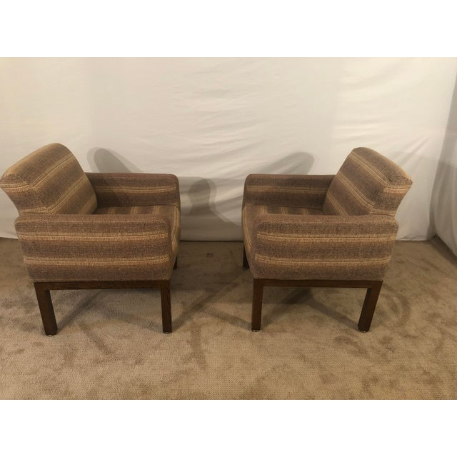 Thayer Coggin 1980s Vintage Milo Baughman Conference Chairs- A Pair For Sale - Image 4 of 13