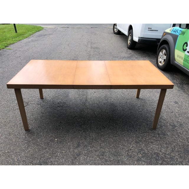 Tan Mid Century 1940s Finnish Birch Extention Dining Table by Alvar Aalto for Artek For Sale - Image 8 of 13