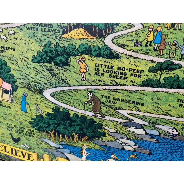 """1930s 1930 """"The Land of Make Believe"""" Landscape First Edition Print by Jaro Hess, Framed For Sale - Image 5 of 8"""