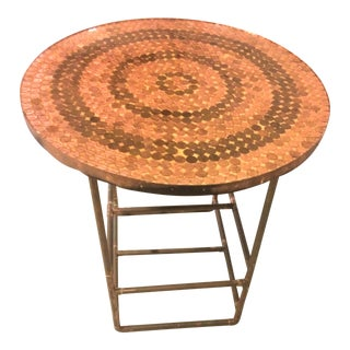 Modern Industrial Copper Side Table For Sale