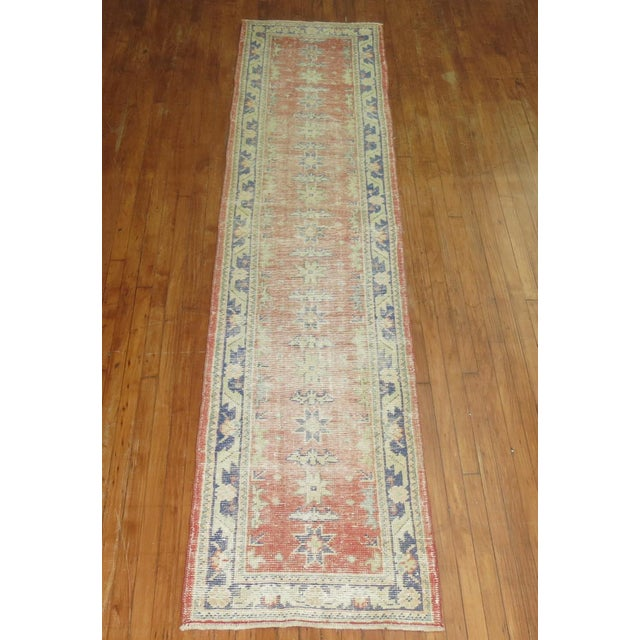 Industrial Distressed Turkish Oushak Runner Rug - 2'5'' x 10'9'' For Sale - Image 3 of 8