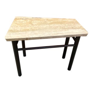 1950s Edward Wormley for Dunbar Angular Travertine Side Table For Sale