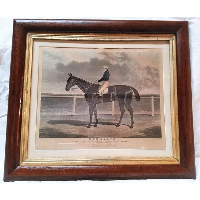 "Black Early 19th Century ""Margrave"" Aquatint Engraving by John Frederick Herring Snr For Sale - Image 8 of 9"