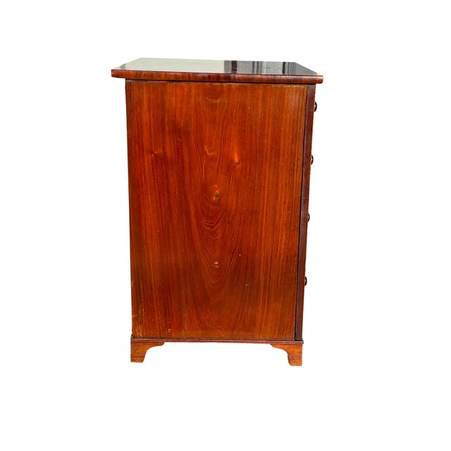 Traditional George III Fiddleback Mahogany Side Cabinet For Sale - Image 3 of 9