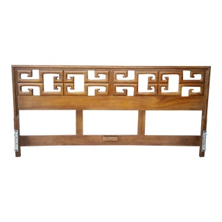 1970's Century Furniture Asian Style King Headboard For Sale