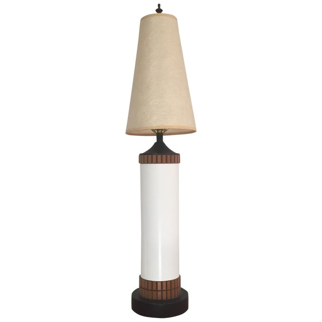 Mid-Century Cylinder Table Lamp - Image 1 of 10