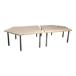Featured in The 2020 San Francisco Decorator Showcase — French Modern Thomas Fetherston X Tuell & Reynolds Dining Tables - a Pair For Sale