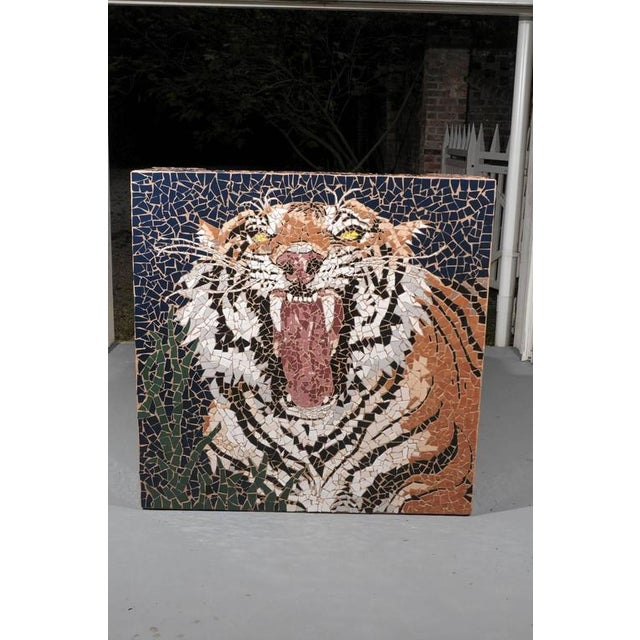 Boho Chic Large Mosaic Tiger Coffee Table For Sale - Image 3 of 7