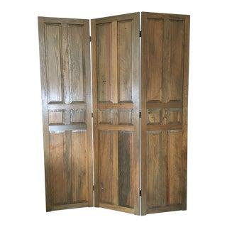 Solid Pecan Wood Room Divider