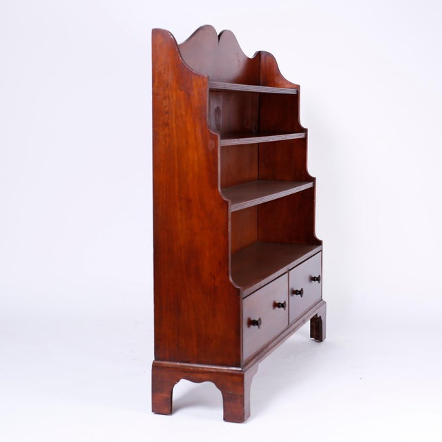 English Step Down Bookcase For Sale - Image 4 of 10