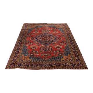 "1950s Vintage Persian ""Viss"" Rug- 7′3″ × 10′1″ For Sale"