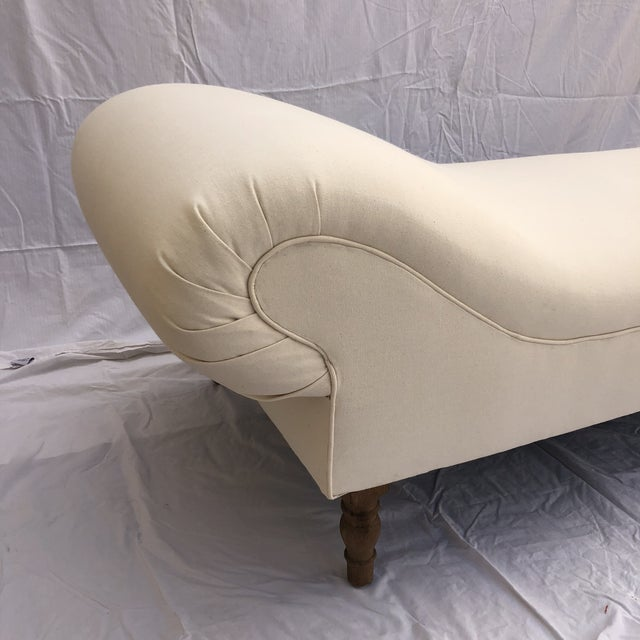 Midcentury Linen Slipcovered Daybed For Sale - Image 10 of 11