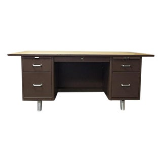 Mid-Century Office Industrial Desk For Sale