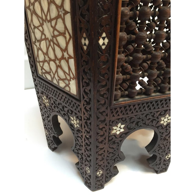 19th Century Syrian Mother-Of-Pearl Inlaid Side Table For Sale - Image 11 of 12