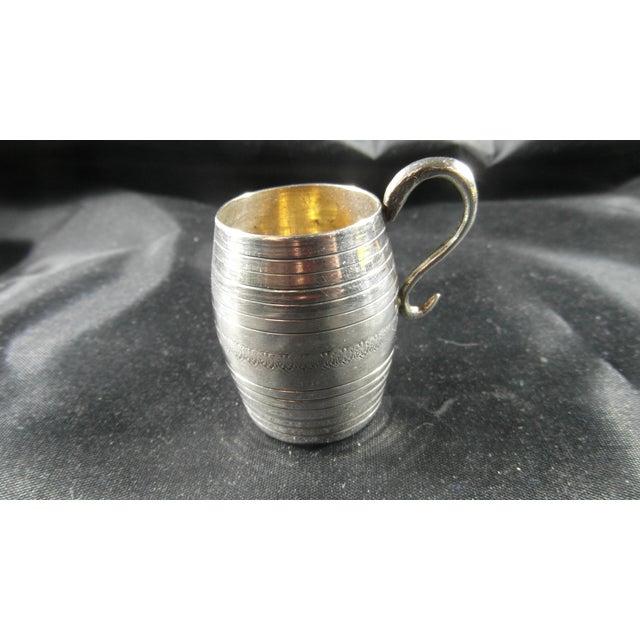 Italian Silver Barrel Shaped Liquor Cup For Sale - Image 9 of 9