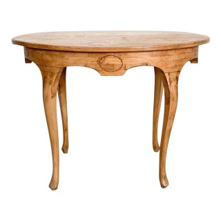 Oval Pine Table, Sweden Circa 19th Century For Sale