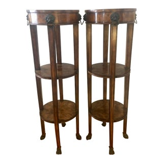 Theodore Alexander Tall Regency Tiered Columns - a Pair