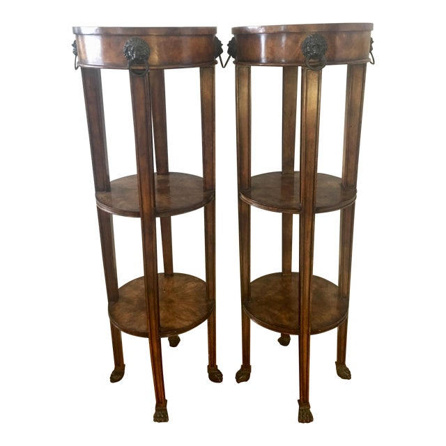 Theodore Alexander Tall Regency Tiered Columns - a Pair - Image 1 of 9