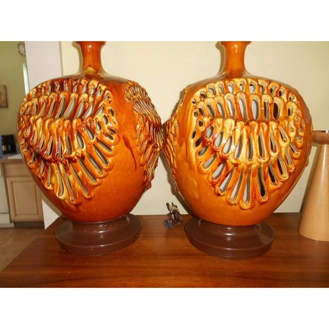 Brutalist MCM Lamp Modern - a Pair - Image 2 of 7