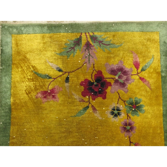 One of a kind, mid 20th-century Hand-woven Chinese Art Deco Rug. Professionally Washed & personally vetted. Ready for...
