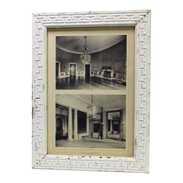 Framed Photo of the Interior of the White House For Sale