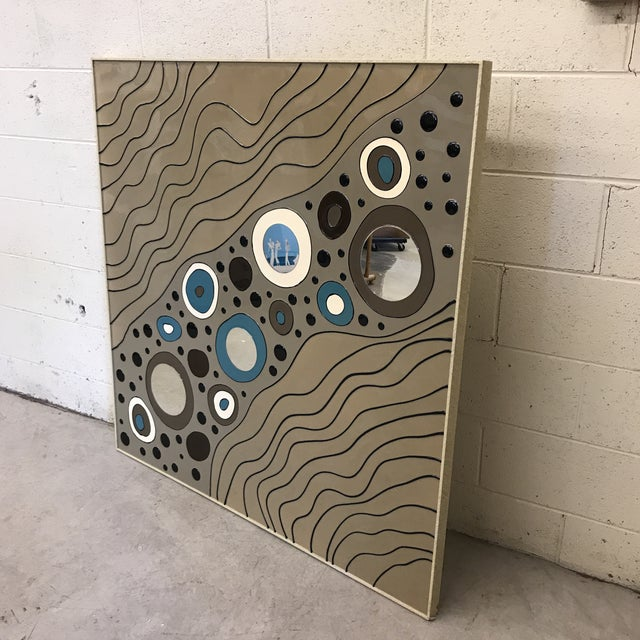 Mid-Century Modern Contemporary Modern Geometric Art on Board For Sale - Image 3 of 10