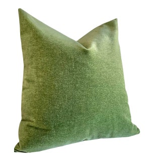 Angora Mohair 24x24 Pillow Cover: Apple Green For Sale