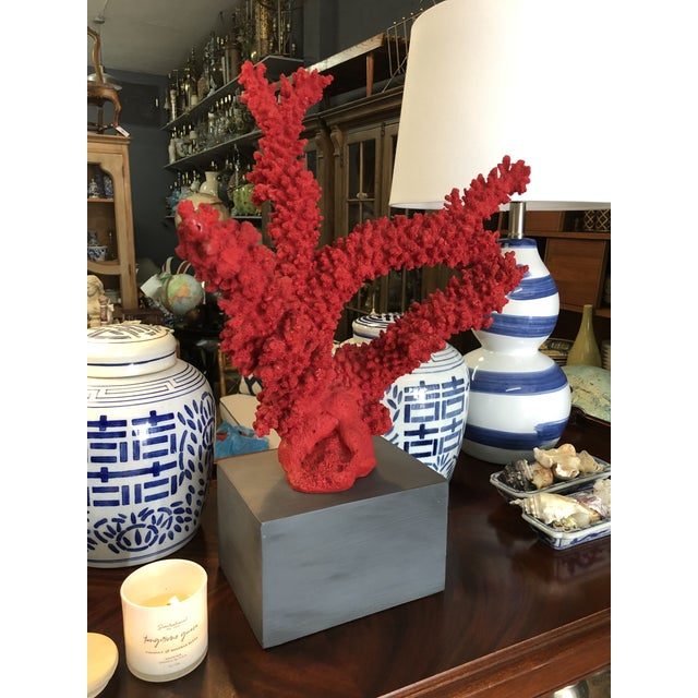Oversized Red Coral , Faux For Sale - Image 4 of 5