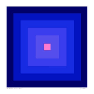 "Power Color 2: Your Presence Is Required (Cobalt to Pink) Original Pigment Print - 30x30"" For Sale"