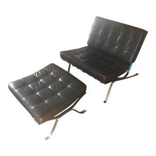 Classic Barcelona Chair & Ottoman
