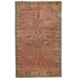 Antique Oversize Indian Carpet For Sale