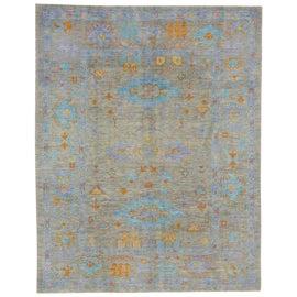 Image of Aqua Contemporary Handmade Rugs