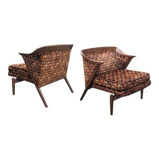 Danish Modern 196 Walnut Armchairs - a Pair For Sale