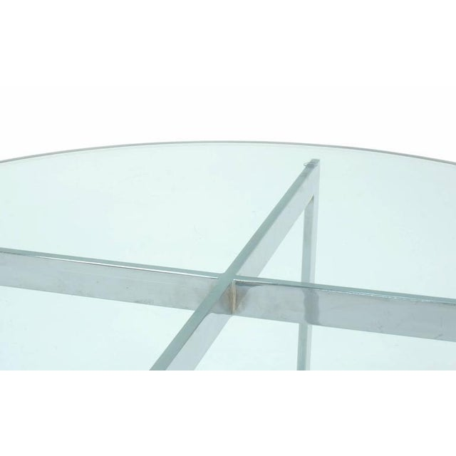 Thayer Coggin Milo Baughman for Thayer Coggin, Round Chrome and Glass Coffee Table For Sale - Image 4 of 6