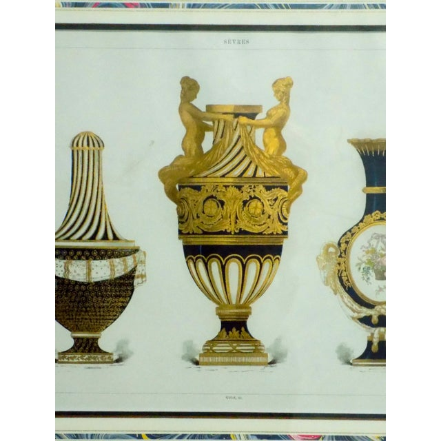 1899 Framed Porcelain Object Prints- A Pair For Sale - Image 9 of 10