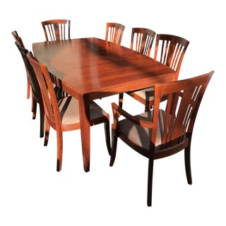 Stickley Solid Dark Cherry Dining Set For Sale