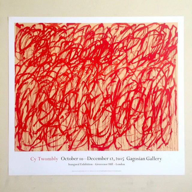 cy twombly abstract expressionist lithograph print gagosian gallery ...