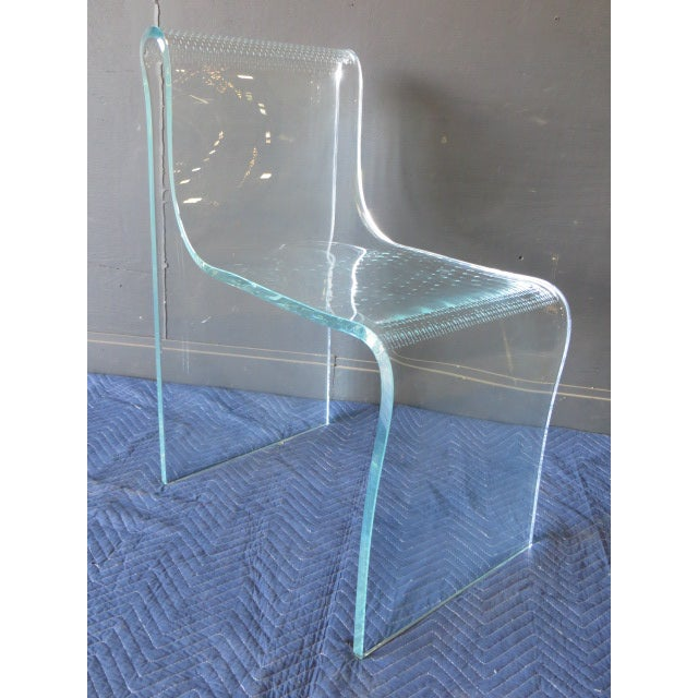 1980s Vintage Fiam Glass Ghost Chair For Sale - Image 9 of 12