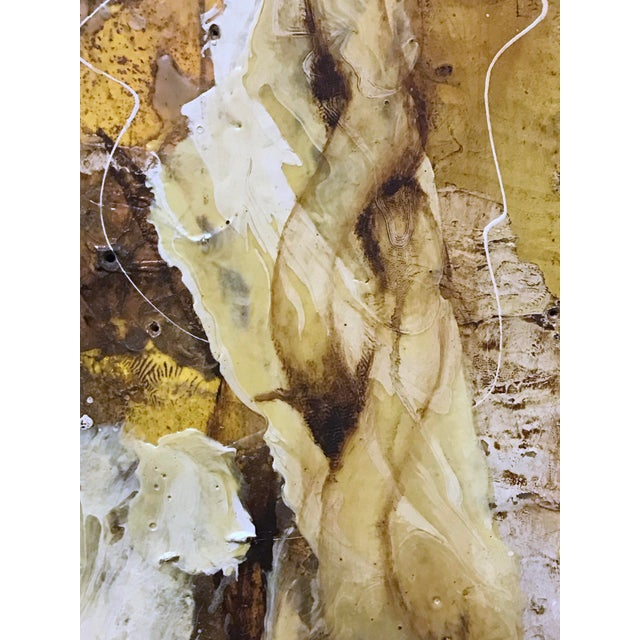 """""""White Root"""" Abstract Expressionist Painting by David Geiser For Sale In Portland, OR - Image 6 of 13"""