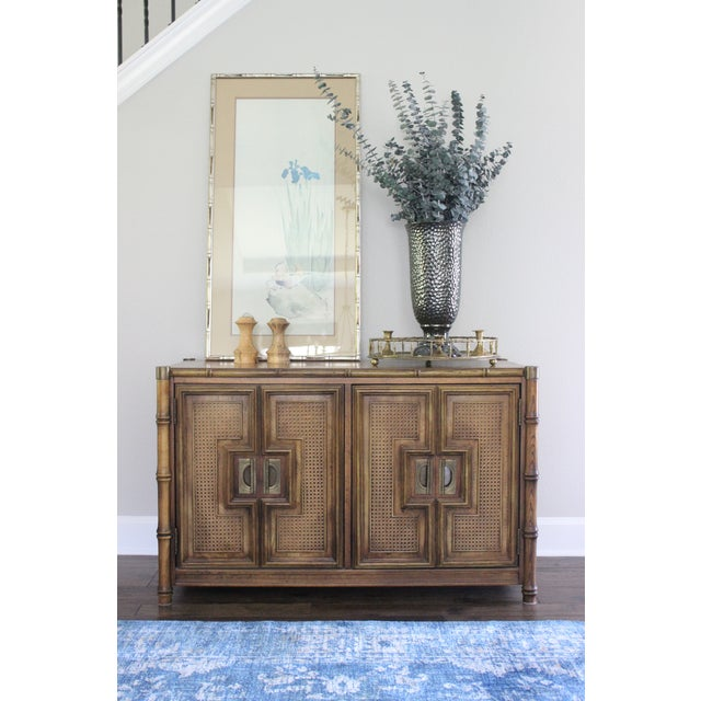 Stanley Mid Century Faux Bamboo Credenza - Image 8 of 11
